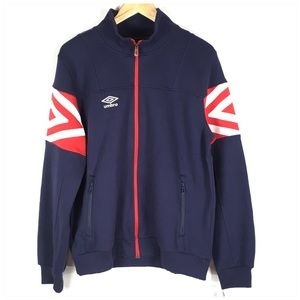 Men's Umbro Jacket Navy Blue with Red Trim NWT